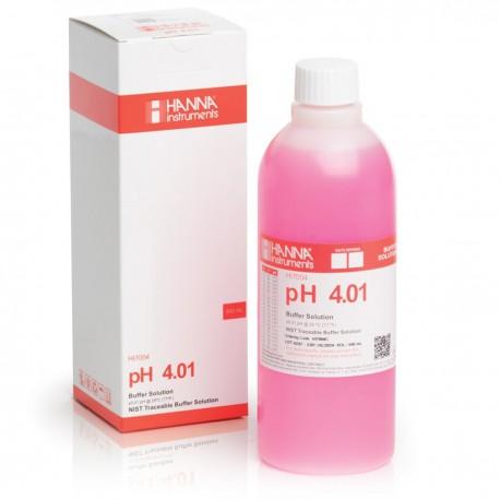 pH-buffertlösning 4.01pH 500ml Färgad Röd