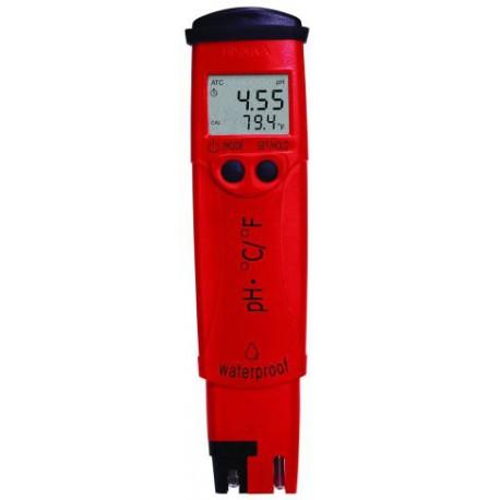 pH-testare med temperatur och utbytbar pH-elektrod ±0.05pH HI-98128
