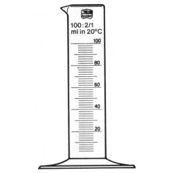 Cylinder - Glas 10ml,  låg modell /2st