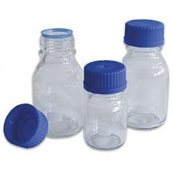Flaska  Glas-  250ml blått skruvlock /10st