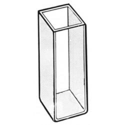 Kyvett 4ml optiskt rent glas / 2st