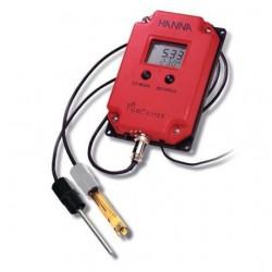pH-mätare väggmodell kontinuerlig mätning pH/Temp