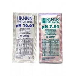 pH-buffertlösning 7.01 o 10.01pH engångspåsar (5+5st)