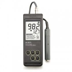 Konduktivitetsmätare portabel stort mätområde HI-9033
