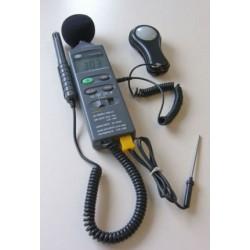 4 i 1-mätare för ljud-, ljus-, fuktighet- och temperaturmätning