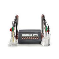 pH-, Konduktivitet- o Saltmätare bänkmodell pH/EC/NaCl/mV HI-2550