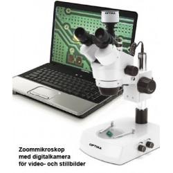 Mikroskop Stereo Zoom 7-45x med 3Mpixel kamera