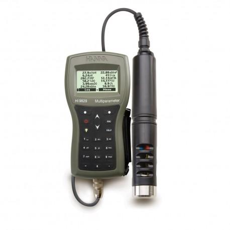 Multimätare pH/ORP/Kond./Syrehalt /GPS-Funktion 4m kabel HI-9829-10042